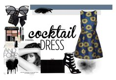 """""""Cocktail Dress"""" by marinka38168289 ❤ liked on Polyvore featuring Chanel, Alice + Olivia, Charlotte Olympia, J.Crew, Gucci, Lancôme and Marc Jacobs"""