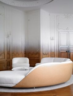 Love this! Fading History: Ramy Fischler Transforms An Art Deco Apartment Into A Contemporary Pied-à-terre - Duplex apartment in a listed building on Place de Colombie, in Paris' 16th arrondissement - France.