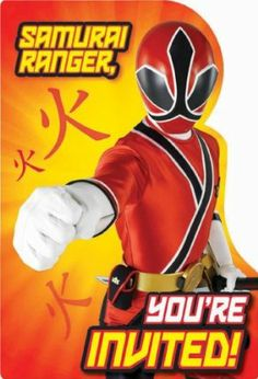 Power Rangers Samurai Invitations Party Accessory by AMSCAN. $5.57. Power Rangers. Kids' Party Supplies. Includes (8) themed invitations and (8) envelopes. This is an officially licensed Power Rangers Samurai product.