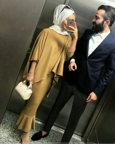 likes, 10 Comments - 💎Hijab Muslim Couples💎 (Muslim Mus . Muslim Dress, Hijab Dress, Hijab Outfit, Hijab Wear, Abaya Fashion, Modest Fashion, Fashion Outfits, Muslim Women Fashion, Islamic Fashion
