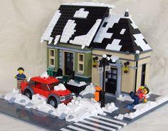 Építési naplók - Akciós csirkefarhát | Kockashop Lego Christmas Village, Lego Winter Village, Casa Lego, Lego Minifigure Display, Lego Sculptures, Lego Pictures, Lego Modular, Cool Lego Creations, Lego Architecture