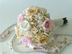 Sensational Bridal Bouquet Natural Preserved by floralartstudio, $190.00