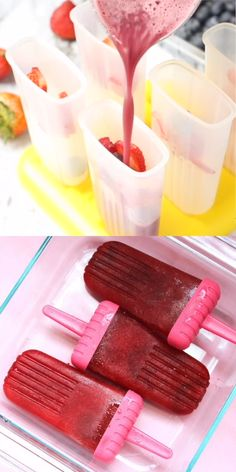 Oh yes we did! Red wine popsicles (AKA winesicles) are the ULTIMATE grown-up summer treat! Ice Pop Recipes, Alcohol Drink Recipes, Summer Dessert Recipes, Summer Snacks, Popsicle Recipes, Summer Treats, Cream Recipes, Wine Popsicles, Alcoholic Popsicles