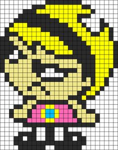 Mandy  Angry Perler Bead Pattern / Bead Sprite