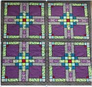 arts and crafts stained glass; I can see as a quilt block!