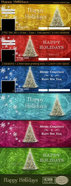 Facebook Timeline Cover | Happy Holidays