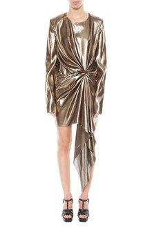 SAINT LAURENT gold dress #saintlaurentdress  Shop on line
