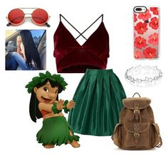 """""""Lilo"""" by gabyqueeny ❤ liked on Polyvore featuring WithChic, Disney, Casetify and Accessorize"""