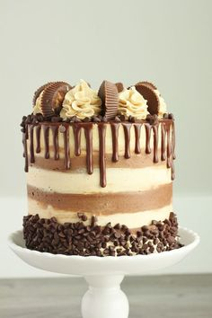 Creative Image of Peanut Butter Chocolate Birthday Cake . Peanut Butter Chocolate Birthday Cake Chocolate Cake With Whipped Peanut Butter Buttercream Baking With Food Cakes, Gourmet Cakes, Cupcake Cakes, Drip Cakes, Fire Cake, Whipped Peanut Butter, Cake Recipes, Dessert Recipes, Peanut Recipes