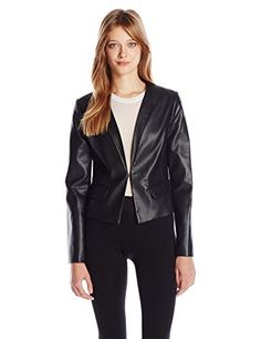 """Stretch ponte panels under the sleeves and at back hem       Famous Words of Inspiration...""""Nietzsche was stupid and abnormal.""""   Leo Tolstoy — Click here for more from Leo...  More details at https://jackets-lovers.bestselleroutlets.com/ladies-coats-jackets-vests/casual-jackets/product-review-for-bcbgmaxazria-womens-cruz-fx-leather-cropped-blazer/"""