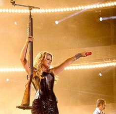 Only Miranda Lambert would have that mic stand! Can't wait for the new Pistol Annie's C.D.