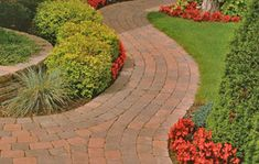 Curved Walkways!  If you need some landscaping done around your house or workplace, call Lawn Tigers Landscaping in Walled Lake, MI at (248) 669-1980 to schedule an appointment TODAY or visit our website www.lawntigers.net for more information!