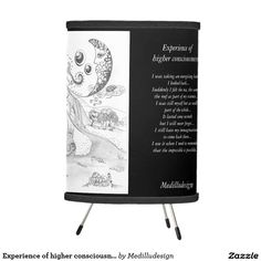 Experience of higher consciousness-violet tripod lamp
