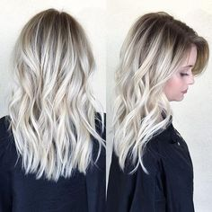 Icy blonde balayage – Welcome My World Icy Blonde, Blonde Hair With Dark Roots, Ice Blonde Hair, Blonde Ombre Hair Medium, Medium Length Hair Blonde, Ash Blonde Hair With Highlights, Platinum Blonde Balayage, Bright Blonde Hair, Ashy Hair