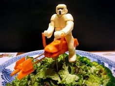 These are amazing! Star Wars sushi. Check out his blog.