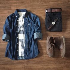 "1,698 Me gusta, 22 comentarios -  Closet Men (@_closetmen) en Instagram: ""Camisa jeans + bota = ❤"""