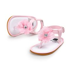 Free shipping pink flower baby girls sandals shoes soft bottom first walkers sandalia infantil baby shoes for age 0~18mont TX40 #Affiliate