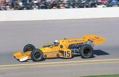 Peter Revson - McLaren M16C [4] Offenhauser 159 ci turbo - McLaren Cars - International 500 Mile Sweepstakes - 1973 USAC National Championship Trail, round 4