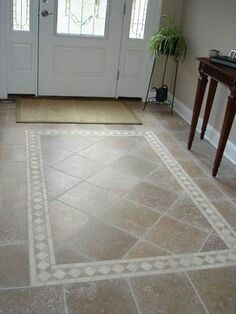 Tile entrance