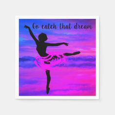 Go Catch That Dream Paper Napkins Create Your Own, Create Yourself, Party Napkins, Ecru Color, Presentation, Paper, Things To Sell