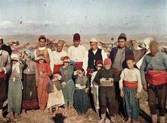Греция. Беженцы Второй Балканской войны, 2 сентября 1912. Эти мусульманские беженцы были принудительно изгнаны из своих домов Фотограф встре...