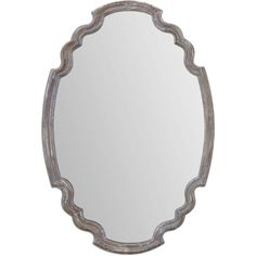 Uttermost Ludovica Aged Wood Mirror (Wall Mirror), Grey