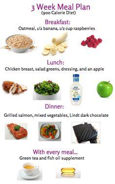 900 Calorie Diet Plan :)