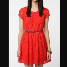 "Coincidence & Chance  Red """"Revel"""" Lace Dress"