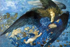 "Edward Robert Hughes (1851-1914), ""Night with Her Train of Stars"" by sofi01, via Flickr"