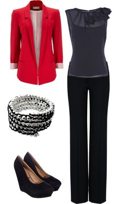 Business Outfit: Long blazer, length of sleeveless, and pant style. Business Mode, Business Attire, Business Fashion, Business Casual, Business Shoes, Business Outfits Women, Business Style, Office Outfits, Casual Outfits