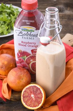 Raspberry Blood Orange Vinaigrette #salad #saladdressing #bloodorange