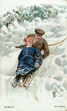 Julekort Andreas Bloch. Akende. Utg Mittet. Kartongkort. Brukt 1903