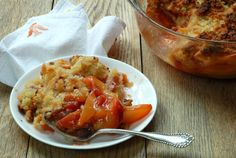 This GF peach crisp was delicious. It is made with Almond Flour but I just used Almond meal and it worked perfectly.