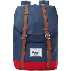 109fc2954b1 Herschel Supply Retreat Bicolor Backpack - Dark Blue Navy ( 80) ❤ liked on