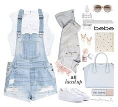 """All Laced Up for Spring with bebe: Contest Entry"" by lushxoxo ❤ liked on Polyvore featuring Bebe, H&M, Bare Escentuals, Christian Dior, adidas, Versace, Sugar Paper, Givenchy, Aamaya by priyanka and Benefit"