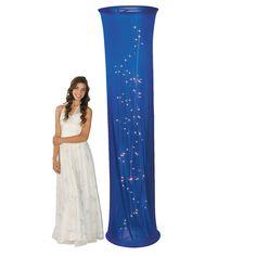 CAN MAKE THESE A LOT CHEAPER!!! Light-Up Blue Fabric Column - OrientalTrading.com