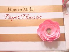 How to Make Elegant Paper Flowers. This is a GREAT idea to make an inexpensive, beautiful, long lasting bouquets! I'm doing this for my wedding! Paper Flowers Craft, How To Make Paper Flowers, Flower Crafts, Cloth Flowers, Diy Flowers, Fabric Flowers, Wedding Flowers, Paper Flower Tutorial, Scrapbook Paper