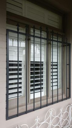 Steel security window bars installed in Toorak.