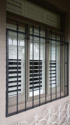 Steel security window bars installed in Toorak.