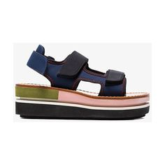 Marni Neoprene Contrast Sole Flatform ($770) ❤ liked on Polyvore featuring shoes, blue, blue shoes, neoprene shoes, marni shoes, flatform shoes and marni