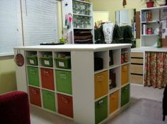 Craft Bench - Closetmaid Cubeical sets with countertop