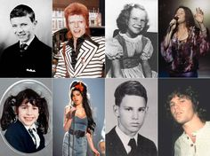 Rockstars during their Younger Days  Buzzfeed has found and gathered portraits of iconic singers and musicians during theyre younger days displayed as diptychs next to a portrait of themselves adults. From Bowie to Lou Reed and Janis Joplin discover the cute faces of all these legendary rock stars.  David Bowie.  Jimi Hendrix.  Janis Joplin.  Jim Morrison.  Amy Winehouse.  John Lennon.  Kurt Cobain.  Elvis Presley.  Freddie Mercury.  Paul McCartney.  Debbie Harry.  Björk.  Iggy Pop.  Patti…