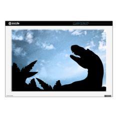 #jurassic #dinosaurs #allosaurus #sky #pteranodon #silhouette #laptop #computer #skin