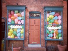 Love this idea of balloons in the window - looks like the house is full of balloons! Best Kids Birthday Ideas - iVillage