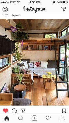 Tiny House Design Ideas To Inspire You; Easy Furniture DIY Projects For Interior Design; Cute Furniture Tiny House For Simple Life. garden apartment interior design floors Tiny House Design Ideas To Inspire You Tiny House Movement, Tiny Spaces, Small Apartments, Casas Containers, Tiny House Living, Tiny Apartment Living, Living Room, Small Living, Modern Living