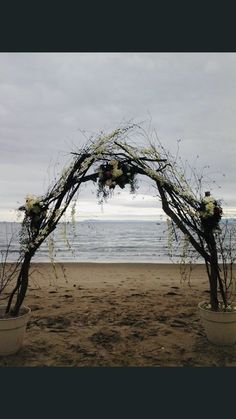 Arch Flowers, Beach, Water, Wedding, Outdoor, Gripe Water, Valentines Day Weddings, Outdoors, The Beach