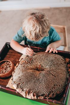Montessori practical life activity at home to develop concentration and fine motor skills.