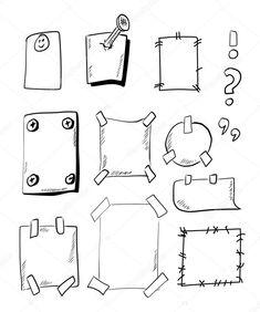 Рамка Bullet Journal Banner, Bullet Journal Inspiration, Banners, Doodles, Bulletins, Sketch Notes, Doodle Drawings, Book Journal, Leaf Decoration