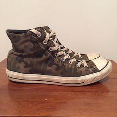 2e34ff2b0ce Converse Chuck Taylor Hi Top Sneakers Shoes Grape Leaf Camo Mens US 10 UK  10