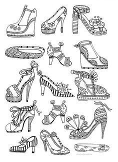 1000 Images About Adult ColouringShoesFeetsHands Zentangles On Pinterest